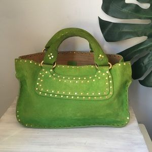 Celine • Green Suede Boogie Bag